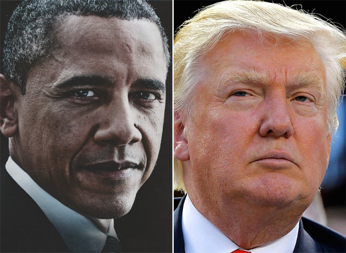 Icon Blog Obama und Trump